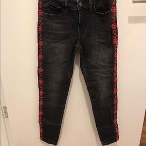 Levi's 711 skinny jeans with embroidery